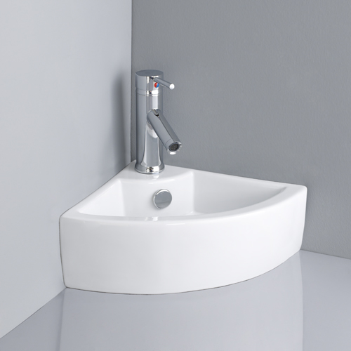 Modern Corner Sink : Details about VALUE Ceramic Modern CORNER Basin Sink + Tap + Waste ...