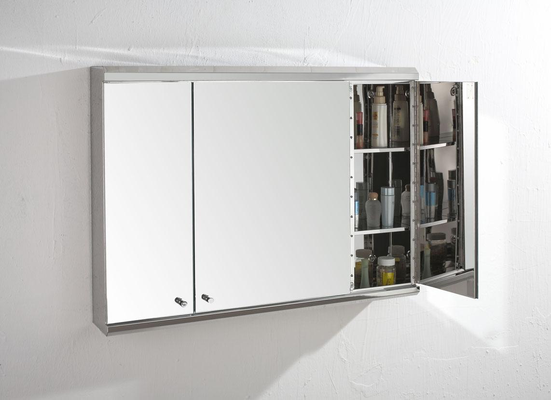 Biscay X Triple Door Three Door Mirror Bathroom Wall
