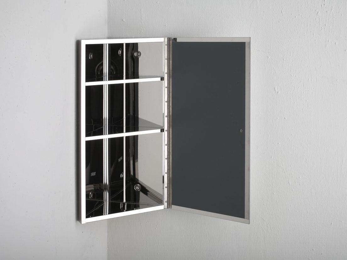 60cm x 30cm single door mirror corner bathroom wall for Corner bathroom wall cabinet with mirror