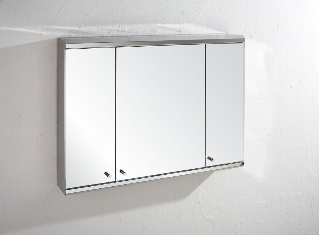 Mirrored Bathroom Cabinets Uk Biscay 80cm X 55cm Triple Door Three Door Mirror Bathroom Wall