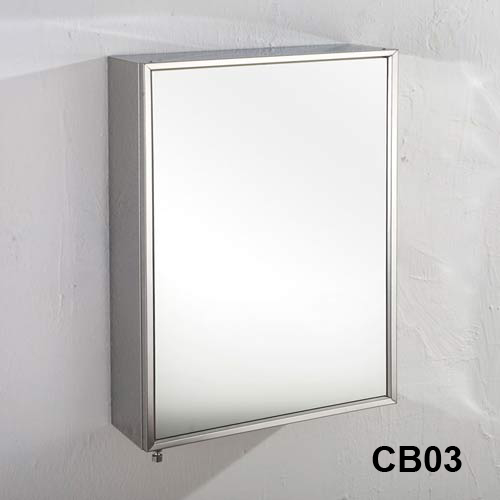 Stainless Steel Bathroom Mirror Cabinet Corner And Wall Mounted Single Double