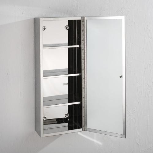 60cm X 25cm Single Door Mirror Bathroom Metal Mirror Cabinet Wall Cabinet Narrow