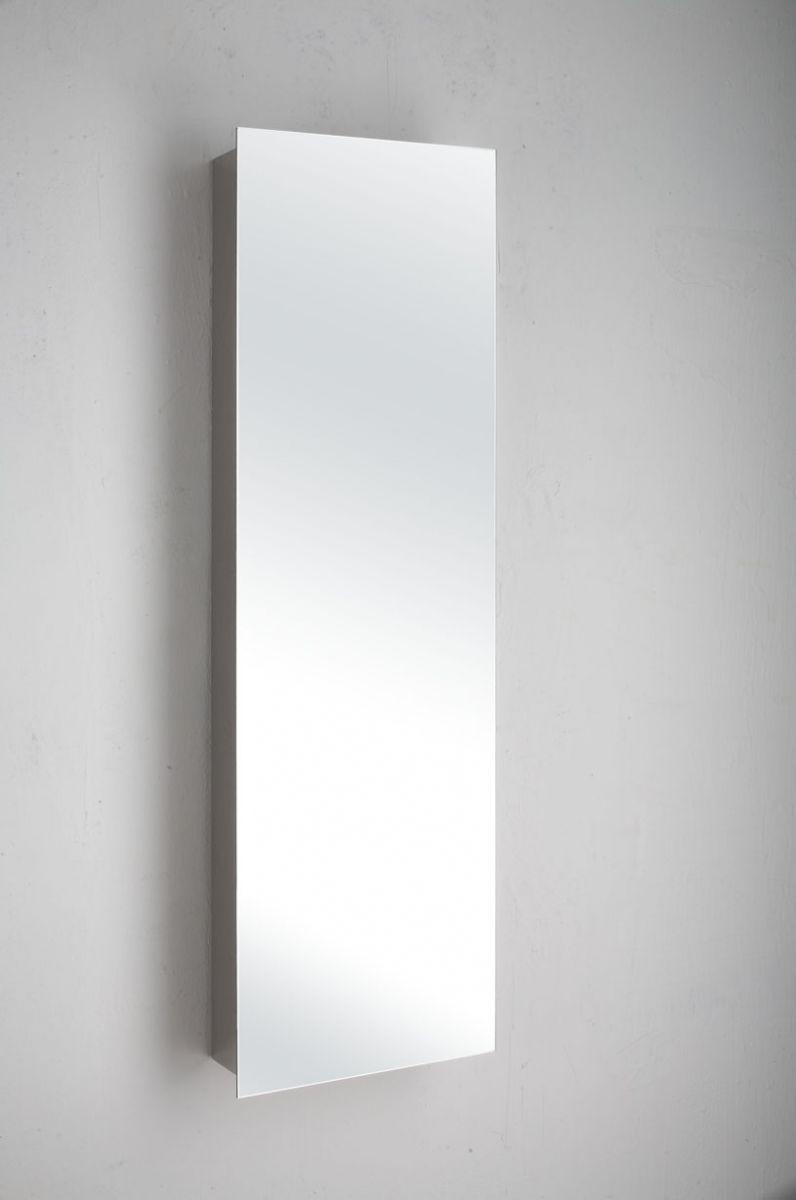 120cm x 36cm slimline single door mirror bathroom cabinet wall cabinet