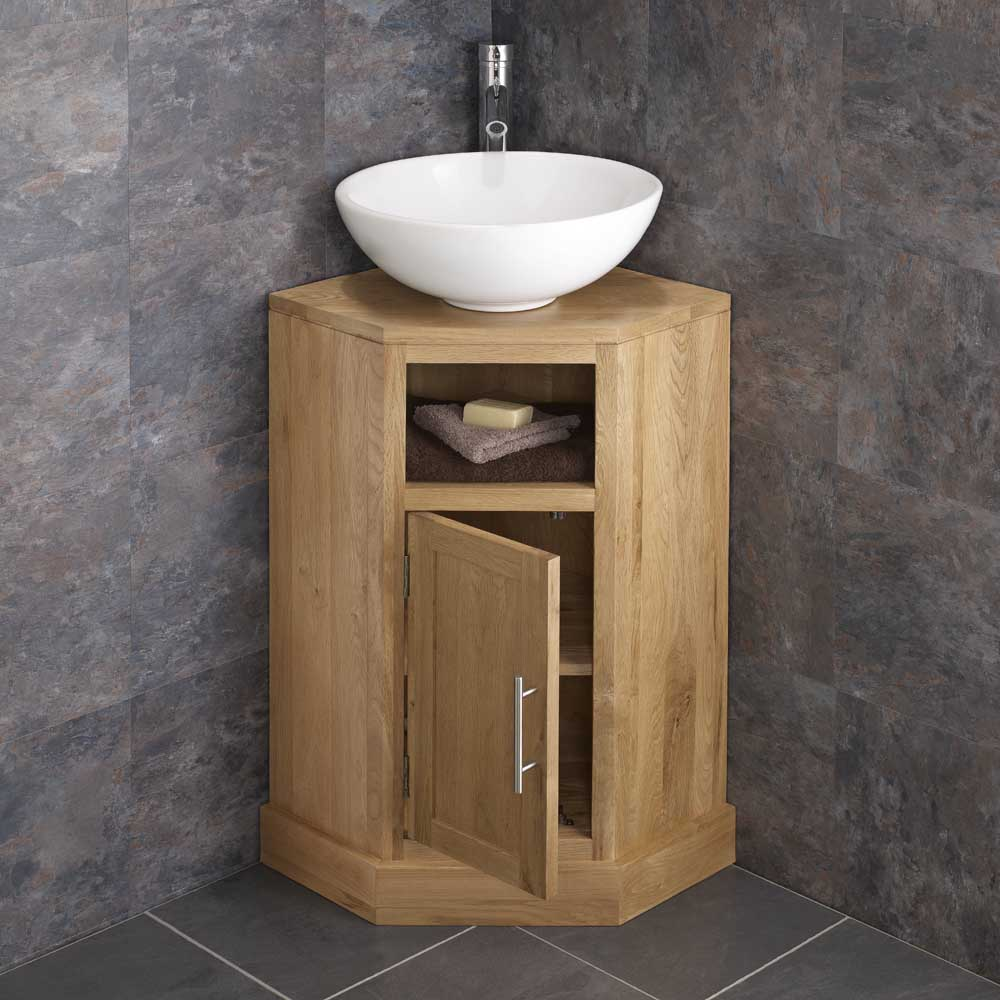 Corner Sink And Toilet Unit : ... Saving Corner Bathroom Freestang Vanity Unit Round Basin Sink eBay