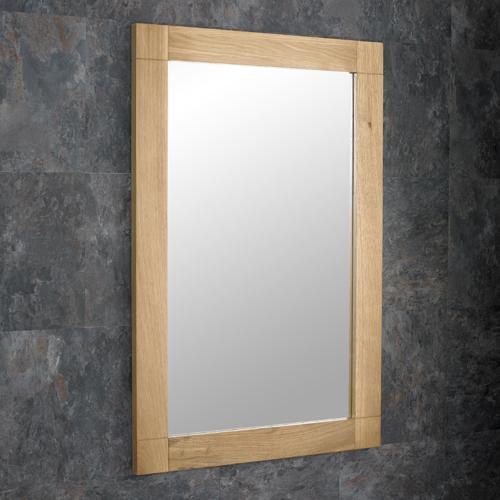 Solid oak bathroom bedroom living room dining room mirror for Mirror 90 x 60