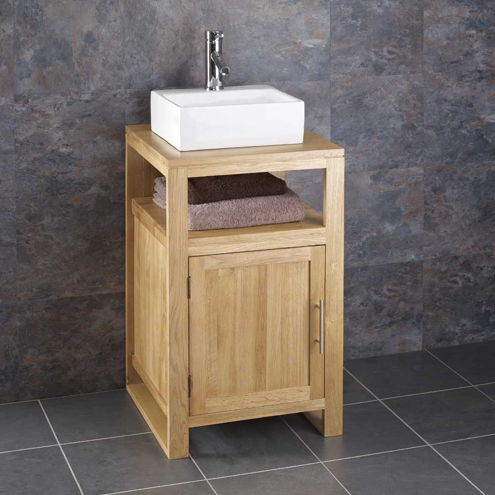 Solid Oak Bathroom Vanity Unit 50 Solid Oak Vanity Unit With Basin Sink 700mm Bathroom