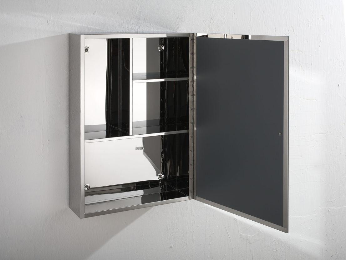 Moda 40cm X 60cm Single Door Mirror Bathroom Mirror Cabinet Wall Metal Storage