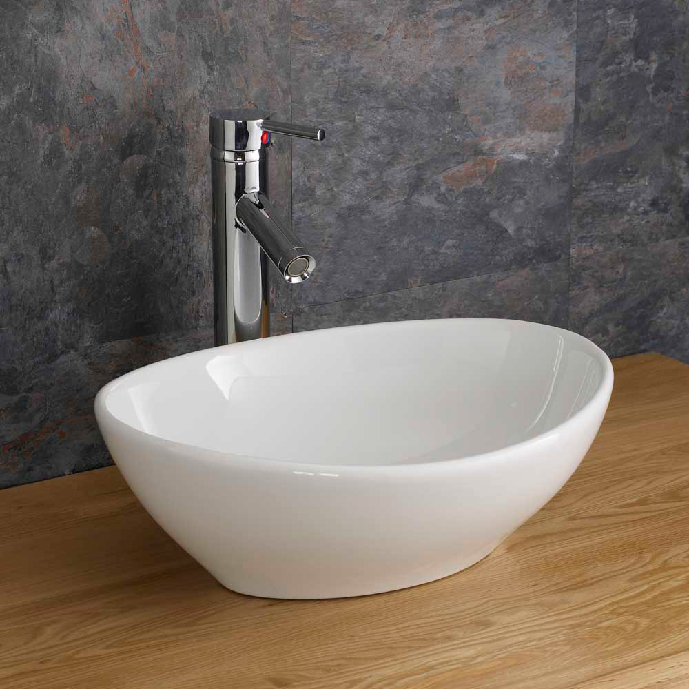 ... Bathroom Cabinet Basin Countertop Vanity Unit With Ceramic Sink eBay