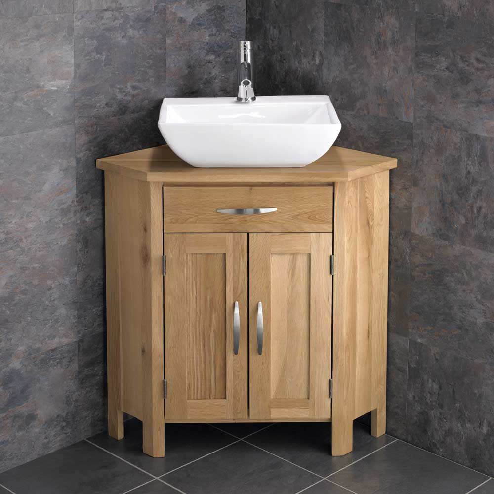 Corner freestanding cabinet bathroom vanity unit 78cm wide for Bathroom wash basin with cabinet