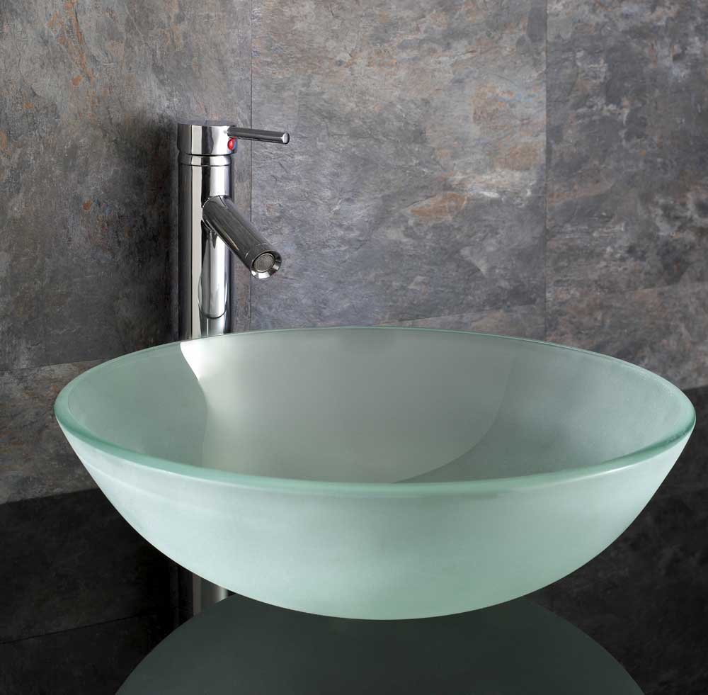 Cloakroom wall mounted basin glass corner sink compact small glass basin set ebay - Glass cloakroom basin ...