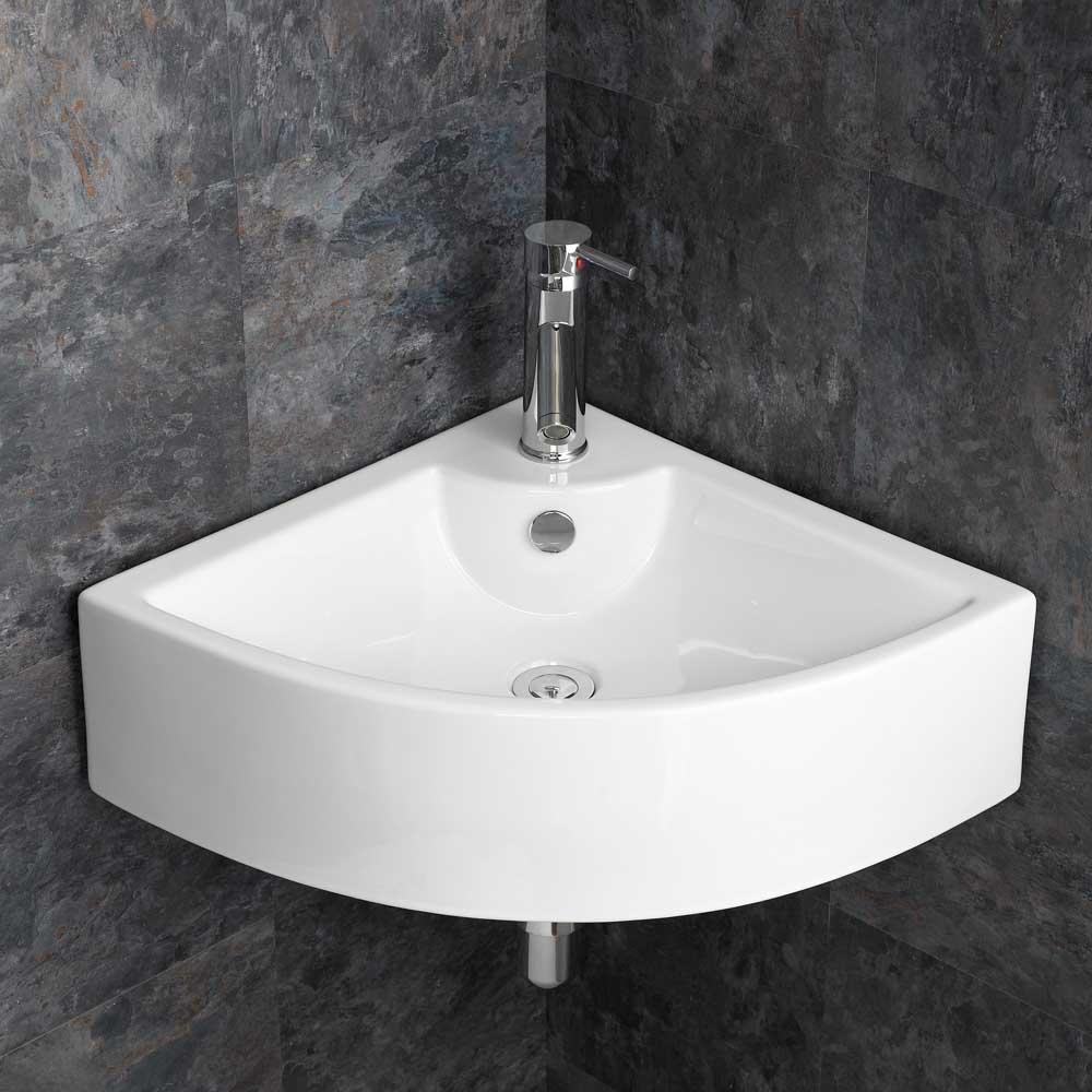 Large Corner Sink Bathroom Basin 65 6cm Wide Wall Hung