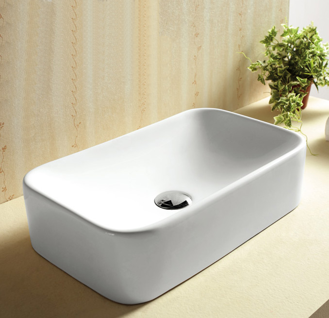 ... 6cm x 29.6cm Rectangular Sink Countertop Basin White Ceramic Bathroom