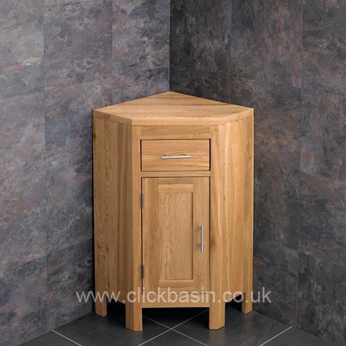details about solid oak corner bathroom vanity unit cabinet ceramic