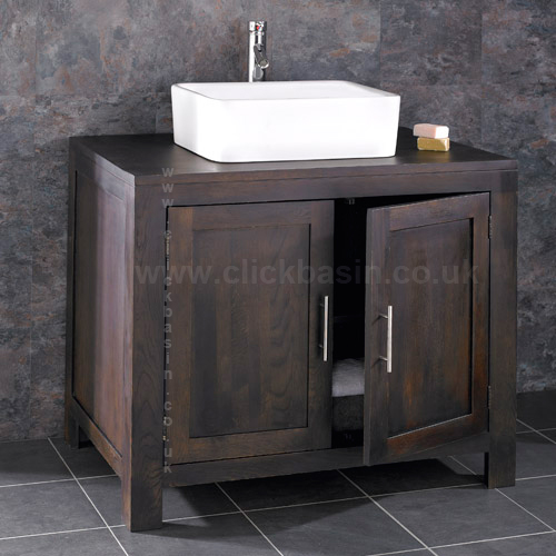 90cm freestanding bathroom cabinet solid wenge oak vanity unit ceramic
