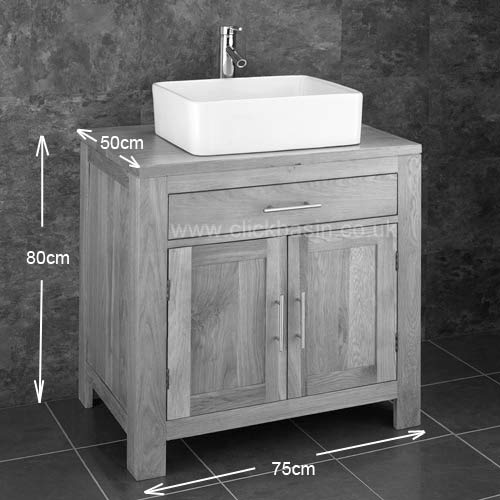 75cm wenge 2 door solid oak freestanding basin cabinet sink alta vanity bathroom ebay. Black Bedroom Furniture Sets. Home Design Ideas