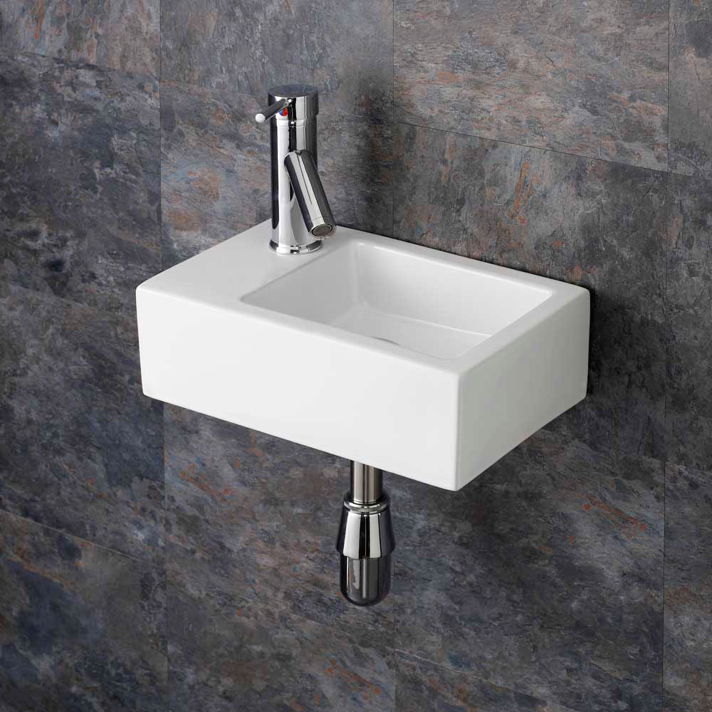 Wall Mounted Washbasin : ... Small Sink Wall Mounted Sink Cloakroom Basin White Bathroom Ceramic