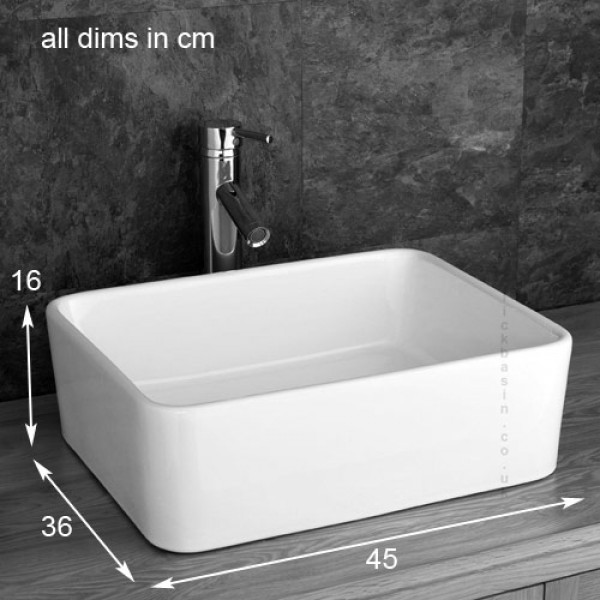 Glass top bathroom sinks - Solid Oak Bathroom 60cm Wide Vanity Furniture Unit Sink